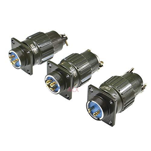 RONGW JKUNYU Conectores electrónicos Serie 21mm Y21M Hebilla rápida Conector de Cable de aviación Conecte Masculino y Mujer 2/3/4/5/7/10/14/16 Pin 2P / 3P / 4P / 5P / 7P Ejército Verde (Color : 4PIN)