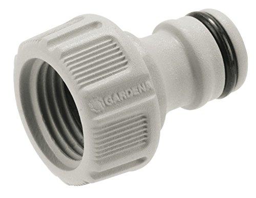 Gardena Hahnverbinder 21 mm (G 1/2 Zoll): Anschluss für Wasserhähne mit Gewinde, wasserdichte Verbindung, einfache Handhabung, verpackt (18200-20)
