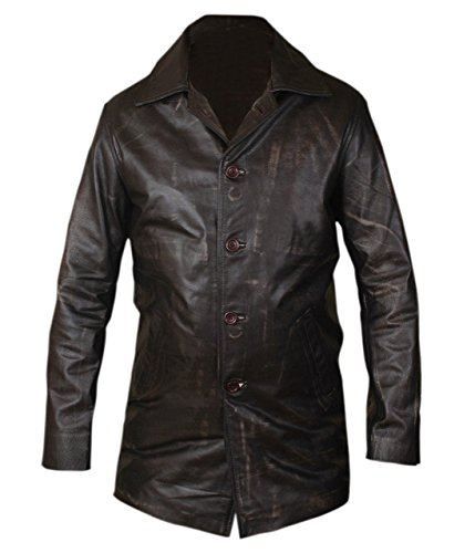 Feather Skin Supernatural Dean Winchester Herren Mantel Distressed Leder Mantel-M