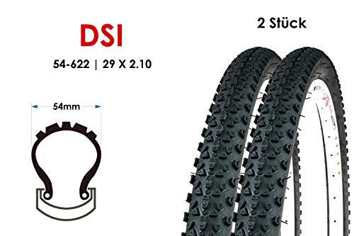 2 Stück 29 Zoll Fahrrad Reifen 54-622 MTB Mountain Bike 29x2.10 Tire Mantel schwarz