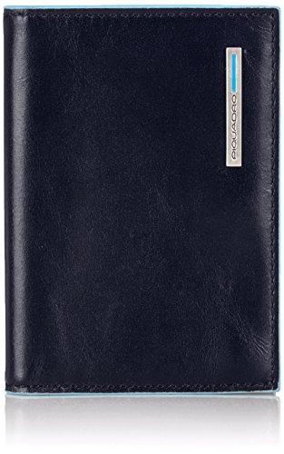 Piquadro PP1661B2/BLU2 Blue Square Porta Carte di Credito, Blu/Verde, 10 cm