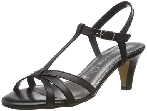 Tamaris Damen 1-1-28360-22 Riemchensandalen, Schwarz (Black Leather 3), 39 EU