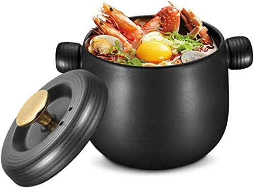 YAOSHUYANG Soup casserole Ceramic Casserole Dish,Large Space Drum Body Soup Pot with Lid,AntiOverflow Ceramic Cookware,Thick and Durable Stew Pot