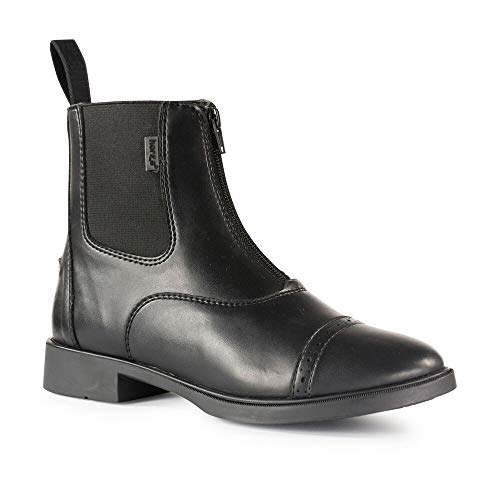horze Wexford Jodhpur Stiefelette für Damen Reitstiefelette mit Reißverschluss vorne, schwarz, EU39
