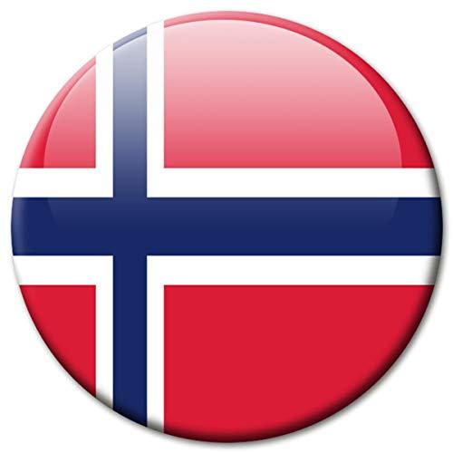 Kühlschrankmagnet Norwegen Flaggen Magnet Länder Reise Souvenir Flagge für Kühlschrank stark groß 50 mm