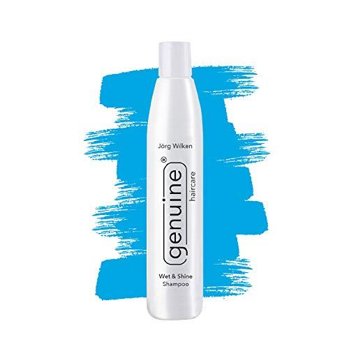 Intensiv Feuchtigkeits-Shampoo mit Moringa-Oil, Wet & Shine, Pflegeshampoo für trockenes, strapaziertes, brüchiges Haar, genuine haircare