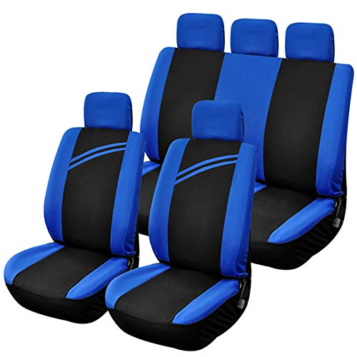 EET Universal Seat Cover Car Seat 9 Piece Seat Cover for Car, Suitable for Four Seasons And Compatible with 95% of Cars (Sedan/SUV/Pickup/Van) - Blue