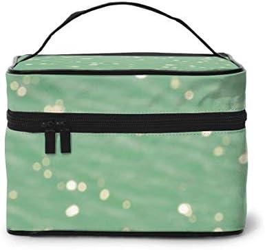 Groene Oceaan Makeup Bag Grote Cosmetische Tas Case Makeup Case Organizer ToiletryReistas voor Vrouwen