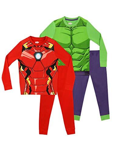 Marvel Pijamas para Niños 2 Paquetes Avengers Multicolor 3-4 Años