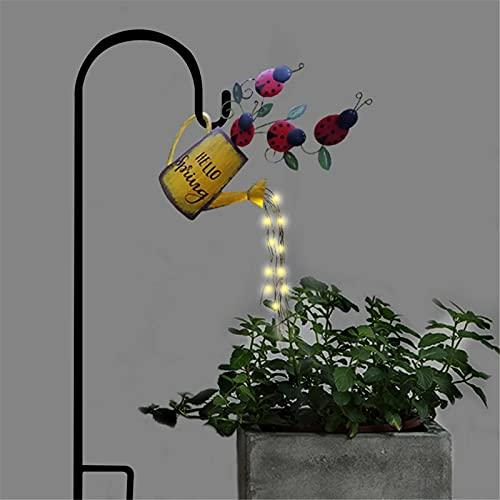 Luz de jardín tipo estrella, lámpara LED de decoración de luz artística, para fiesta, hogar, jardín, dormitorio, patio, cadena de luces para exteriores, hace que tu patio sea más único (C)