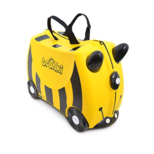 Trunki - Bernard the Bee (Yellow) Rolling Luggage - Kids Suitcase (1040)