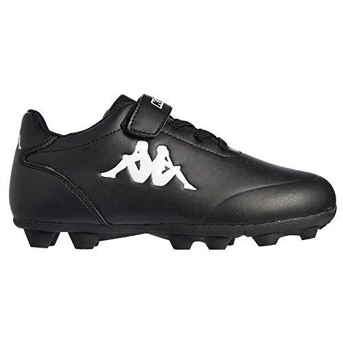 Kappa Delfino FG EV Kid, Zapatillas de fútbol, Negro/Blanco, 30 EU
