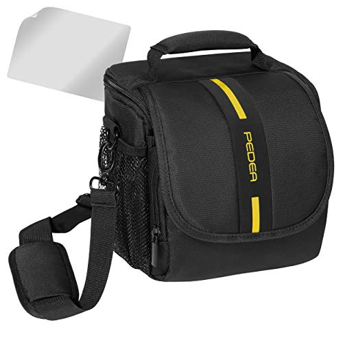 Essex Large SLR Case with Rain Cover and Screen Protector for Sony SLT-A58K/Canon EOS 80D/Alpha 68/Pentax K-70 /Panasonic Lumix DMC-FZ1000 Camera - Yellow -  SET012-65060312-0009