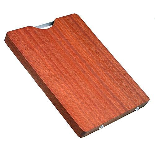 Carrock 調理用 木製まな板 24cm×36cm 抗菌 立て型 携帯できる軽量カッティングボード フック付