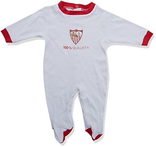 Sevilla FC Pelsev Pelele, Bebé-Niños, Blanco (Blanco/Rojo), 0 meses