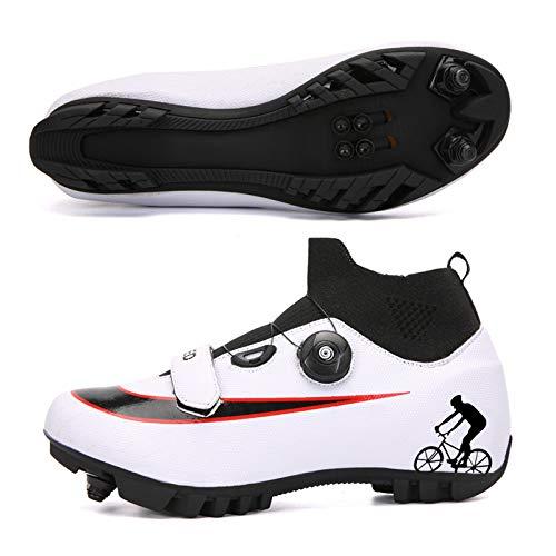 JMAR Zapatillas De Ciclismo - Zapatillas De Ciclismo De Montaña para Hombre, Zapatillas De Bicicleta Mountain Lock para Ciclismo Deportivo Al Aire Libre, Ciclismo De Interior, Ciclismo Profesional
