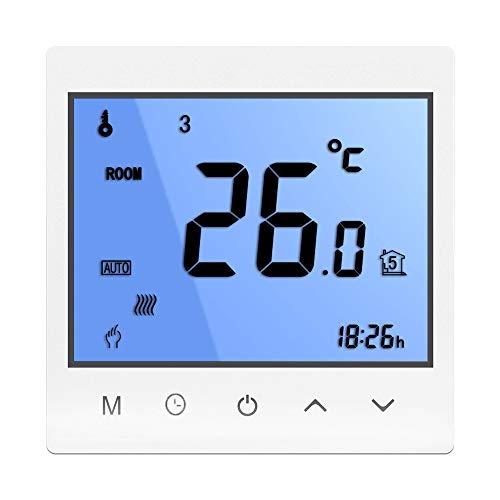 Termostato WiFi per Caldaia a Gas,Termostato intelligente Schermo LCD Programmabile con Telefono APP e Alex Google Assistant IFTTT