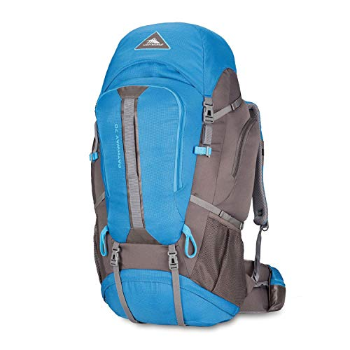High Sierra Pathway Internal Frame Hiking Pack, 70L, Mineral/Slate/Glacier