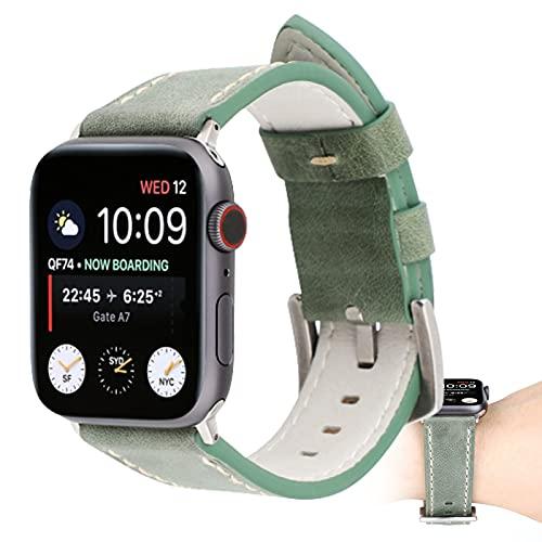 Correas Compatibles con Apple Watch Correa 38 Mm 40 Mm para Apple Watch SE Series 6 5 4 3 2 1, Correa De Repuesto De Cuero Genuino para Hombres Y Mujeres,38mm/40mm
