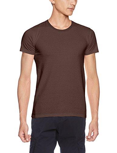 [ダルク] フィットネス シャツ 5.0オンス スタンダード クルーネック Tシャツ DM030 チョコレート WL (日本サイズレディースL相当)