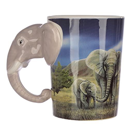Puckator SMUG21 Kaffeebecher Elefant, 8,5 x 11,5 x 10,5 cm