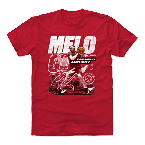 500 LEVEL Carmelo Anthony Shirt (Cotton, Large, Red) - Portland Men's Apparel - Carmelo Anthony City WHT