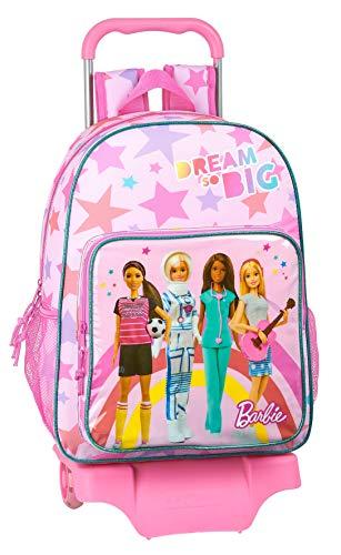 Mochila Safta Escolar Grande con Carro de Barbie, Multicolor (Barbie Dreamer)