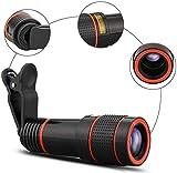 WYDM Geschenk-Handy-Kamera-Objektiv-Kit, Universal-Monokular-Teleskop, Telezoom-Kamera, mobiles Smartphone-Objektiv, Halterung für die meisten Smartphones 8X 12X 14X