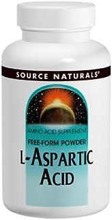 Source Naturals L-Aspartic Acid Powder, 100 Grams (Pack of 2)