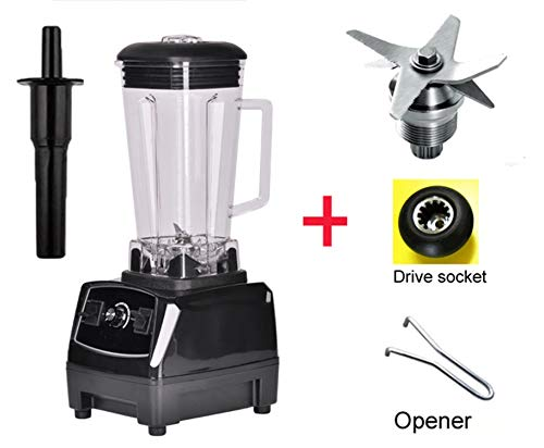 2200W Heavy Duty Professional Blender Mixer Juicer High Power Fruit Food Processor Ice Smoothie,Black bladedrivetool,AU Plug