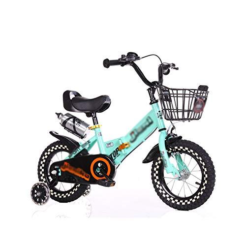 Bicicleta enérgica Infantil Plegable con Ruedas De Entrenamiento Neumáticos De Suspensión Niños De 3 A 12 Años 12 ″ 14 ″ 16 ″ 18 ″ 20 ″ Rosa Amarillo Azul
