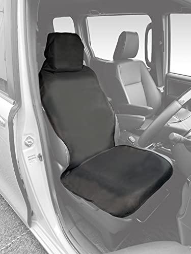 【Amazon.co.jp 限定ブランド】NSTILE by NAPOLEX 車用 防水&撥水 シートカバー シートベルト一体型シートにも対応 便利な収納ポケット付 簡単取付 シートに被せて面ファスナーで止めるだけ 軽自動車からミニバンまで使用可 前席/後席共通 NST-3 ブラック