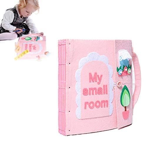XIANGBAO DIY Libro Quiet Fieltro Libros de bebé temprano del Desarrollo cognitivo Juguetes Hechos a Mano Libro Educativo para el...