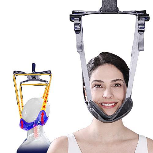 Dispositivo de tracción Cervical, estirador de Cuello, estirador suspendido de Columna Cervical, protección de Cuello multifunción, collarín casero para Hombres y Mujeres