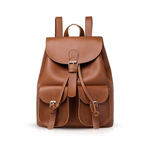 NICOLE & DORIS Damen Rucksack Modischer Frauenrucksack Lässiger Rucksack für Damen Daypack Handtaschen Schulrucksäcke Tasche Braun