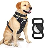 Protective Case Compatible for Apple AirTag, GPS Tracking Dog Cat Collar Accessories Pet Loop Holder, Silicone Protective Case Lightweight Soft Anti-Scratch Anti-Lost (Black 2Pack)