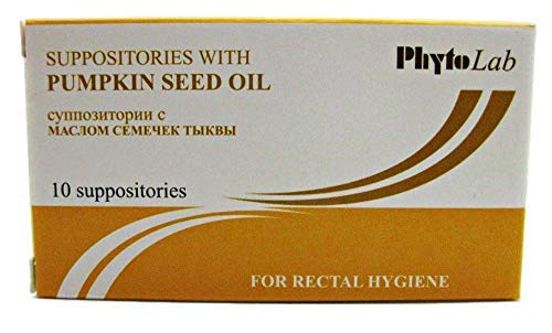 Sewingoodies Suppositories with Pumpkin Seed Oil 10 pcs - for Rectal Hygiene