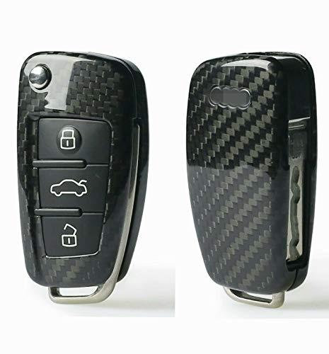 MAX CARBON Funda protectora compatible con llave de carbono auténtico para Audi A1 A3 A4 A5 A6 A7 Q3 Q5 Q7 S1 S3 S4 S5 S6 S7 RS3 RS4 RS5 RS6 R8 TT TTS TTRS