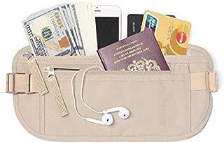 Travel Money Belt, Waist Wallet, Passport Holder for Men and Women, Stylish Fits Passport, Wallet, Phone and Personal Items, Running Belt and Waist Pack, Yellow by Cloudin
