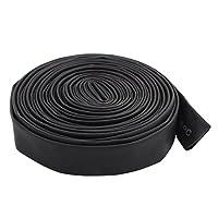 uxcell PVC熱収縮チューブ 8mm直径 125C 電池ラップ ブラック 4M長
