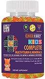 CLINICAL DAILY Complete Kids Multivitamin Daily Gummy Supplement for Brain, Vision, Bone and Immune Health. Vitamins A, C, E,D,B6,B12, Folate, Biotin, Essential Minerals. 90 Gluten Free Yummy Gummies