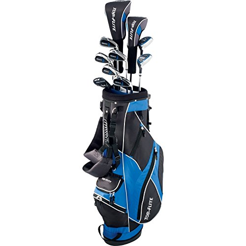 TOP FLITE XL 13 PC Men Complete Golf Set W/Bag Right Hand Senior Graphite Shaft
