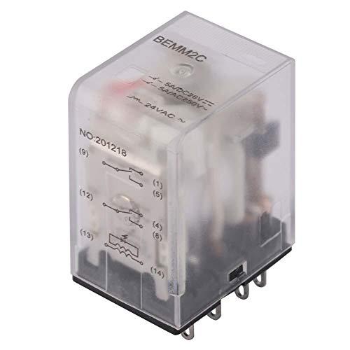 Relé intermedio - 24VAC/110VAC BEMM2C 8 pines 5A Mini relé intermedio de potencia Relé electromagnético(24VAC)