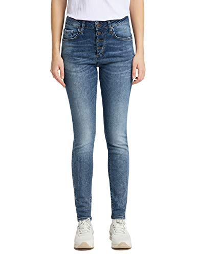 MUSTANG Damen Mia Jeggings Jeans, Blau (Mittelblau 775), 36 (Herstellergröße: 27/34)