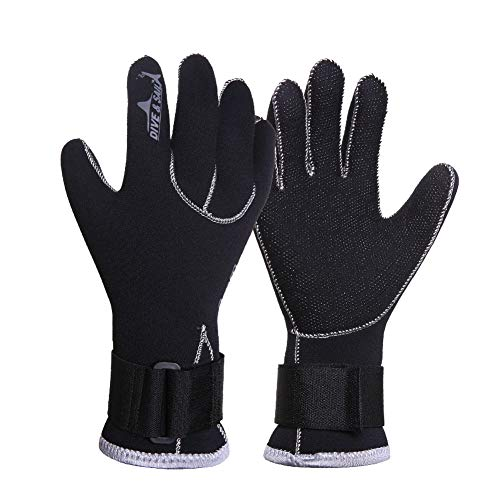 FRFJY 3MM Neopren Taucher Handschuhe Schwimm Handschuhe Schnorcheln Ausrüstung Anti Scratch Halten Warm Wetsuit Material Winter Schwimm Speerfischen - M, M