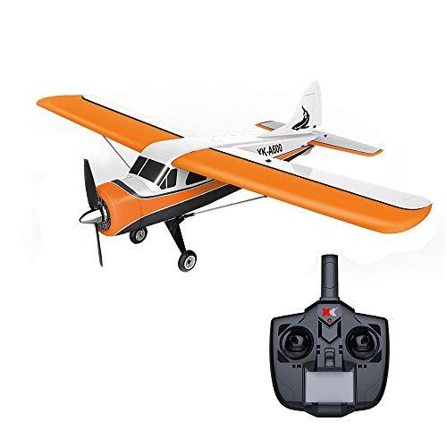 HSKB XK DHC-2 A600 Segelflugzeug, Fernbedienung RC Flugzeug 2.4GHz 4CH Brushless Motor 3D6G RC Flugzeug 6 Achsen Elektrisches Flugzeug Ferngesteuertes Modellflugzeug Outdoor Flieger