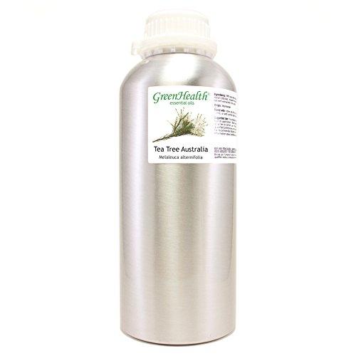 GreenHealth - Australia Tea Tree Oil – 32 fl oz (946 ml) Aluminum Bottle w/Plug Cap – 100% Pure Essential Oil – GreenHealth