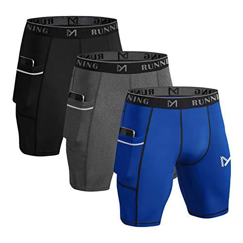 MEETYOO Pantalones Cortos Compresion Hombre, Mallas Deportivas Leggings Deporte Pantalones...