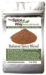 WHAT IS BAHARAT - A traditional blend used mostly with Mediterranean cuisine meat and poultry dishes. A UNIQUE COMBINATION OF SPICES - includes Cinnamon, Allspice, Coriander, Cardamom, Black Pepper, Nutmeg, Ginger, Cloves. THE SPICE WAY FARM - The Sp...
