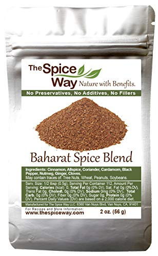 The Spice Way - Baharat Spice Blend Mix 2 oz (Middle Eastern Seasoning) No Additives, No Preservatives, No Fillers, Just Spices and Herbs We Grow, Dry and Blend In Our Farm. Resealable Bag
